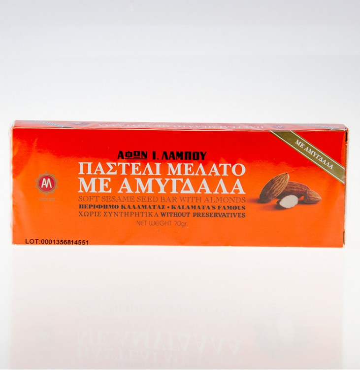 Παστέλι Μελάτο με Αμύγδαλο 70γρ